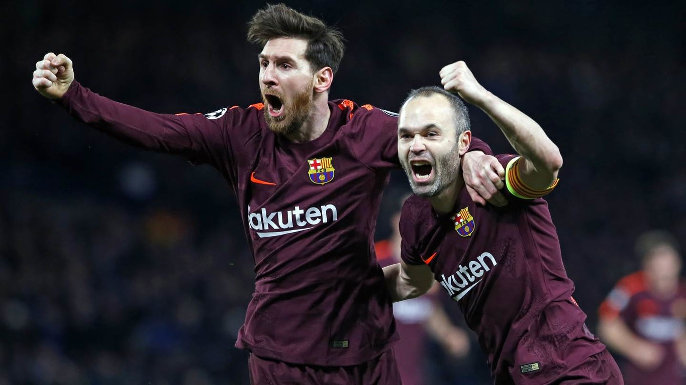 Iniesta-Messi connection cancels out Willian's opener to set up an enticing second leg at Camp Nou in three weeks' time