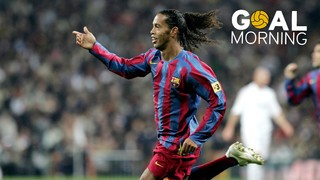 Goal Morning! Today, 12 years ago, Ronaldinho left the Bernabéu ovation