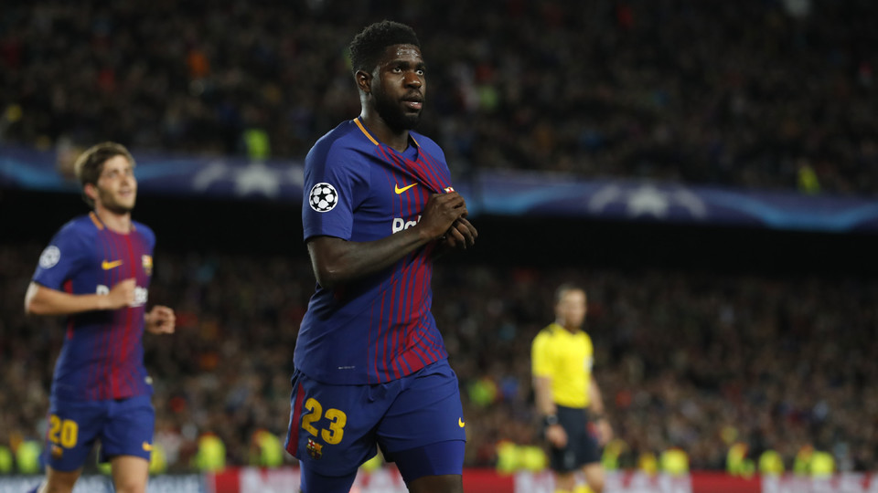 Samuel Umtiti was outstanding on defense and was involved in Barça's second goal of the evening.