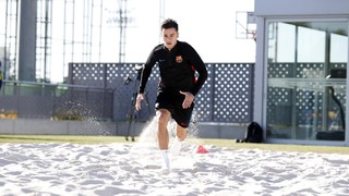 Coutinho training at the Ciutat Esportiva