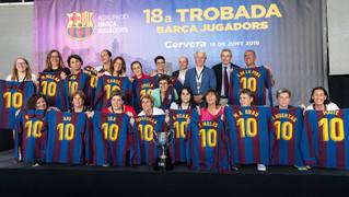 El homenaje en los triunfos del Juvenil Sub 19 y del FCB Femenino de hace 25 años culminan la Semana Barça Jugadores