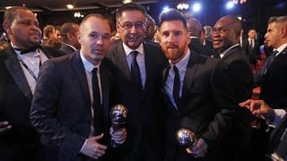 Finalment, la blaugrana Lieke Martens s'ha endut el premi a la millor jugadora de la temporada, mentre que Leo Messi ha quedat segon de la seva categoria. L'argentí, juntament amb Iniesta, han estat escollits com a membres del millor XI del curs