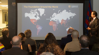 A delegation has been holding various meetings with social and economic organizations in North America to try and expand the Foundation's activities in this area