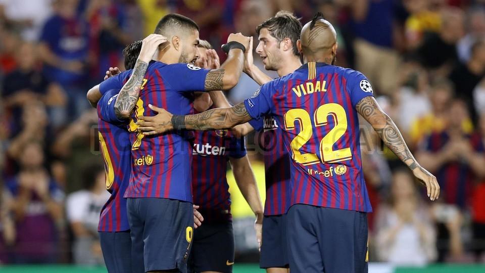 صور مباراة : برشلونة - PSV إندهوفن 4-0 ( 18-09-2018 )  98901834