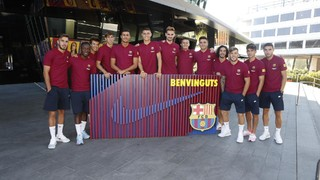 The Barça B players on the U.S. tour
