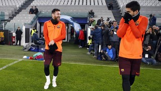 Les fotos de la sessió que han dut a terme els d'Ernesto Valverde, amb els 19 convocats per al Juventus - FC Barcelona de la cinquena jornada de la fase de grups de la UEFA Champions League