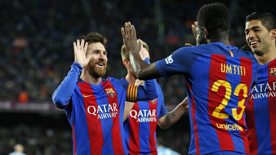 Maillot Domicile FC Barcelona Umtiti