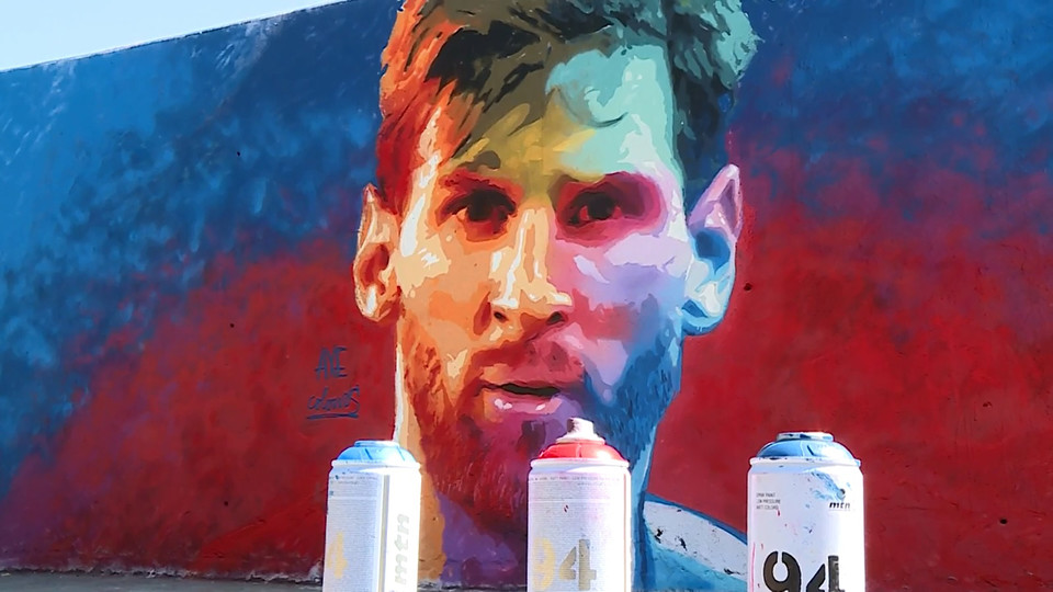 The Artist Known As Axe Colours Has Dedicated Another Mural To The Barca Striker