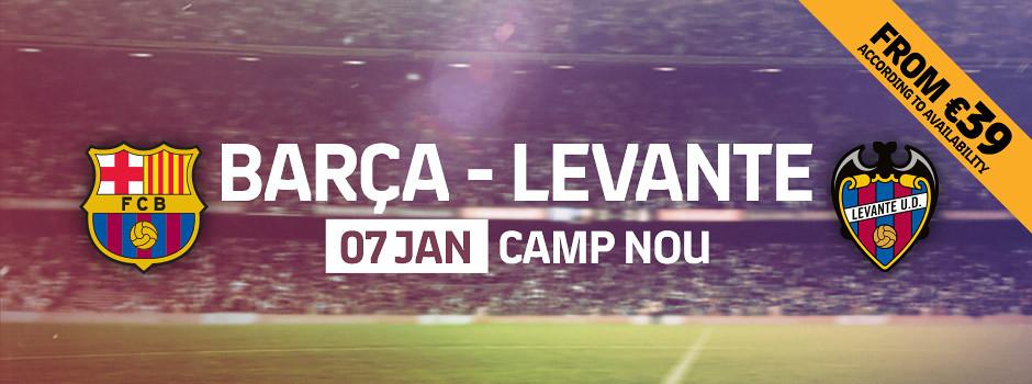 Official tickets FCB VS Levante