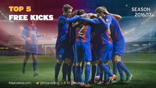 Top five free-kicks scored by La Masia in 2016-17