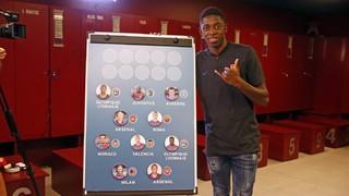 El repte de Dembélé: endevinar el club de procedència de deu jugadors francesos