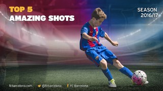Video of five superb shots from the FC Barcelona academy in 2016/17
