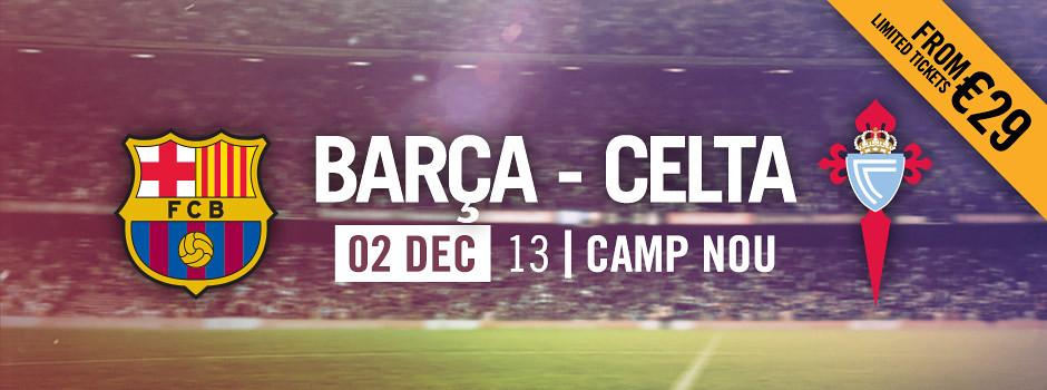 Official tickets FCB VS CELTA