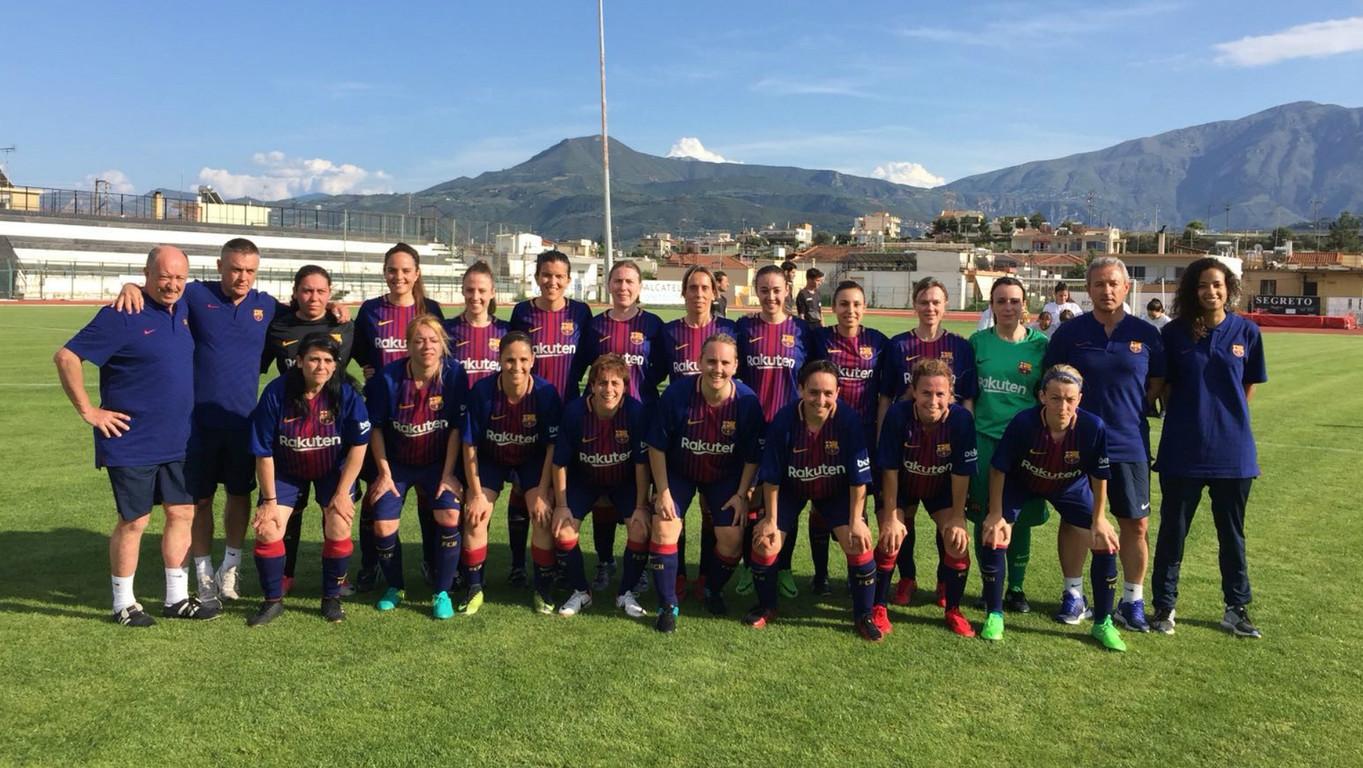 El equipo femenino de la Agrupación ha disputado a Aigion (Grecia) su primer partido amistoso internacional
