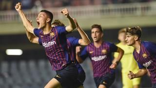 Barça B - Villarreal B: Empate in extremis contra el líder en el Miniestadi (1-1)