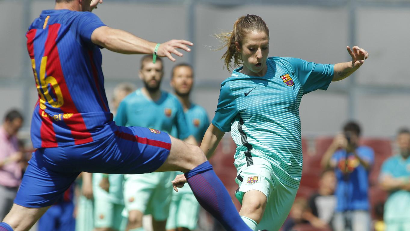 La ABJ celebra la tradicional matinal deportiva de partidos de exjugadores del Barça en el Estadio para despedir el curso