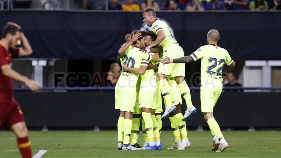 صور مباراة : برشلونة - روما 4-2 ( 01-08-2018 )  95179866