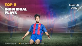 The Barça Academy's Top 5 individual plays goals in the 2016/17 season