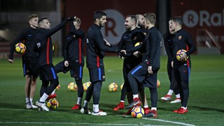 Last training session before the match against Alavés