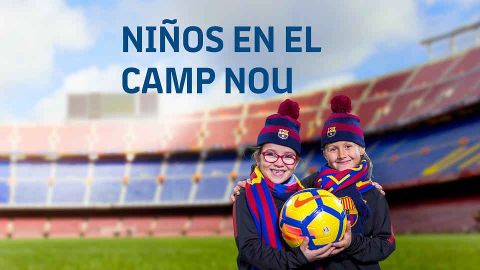 Niños en el Camp Nou - FC Barcelona