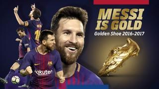 Este viernes Leo Messi recibirá su cuarta Bota de Oro que le acredita como máximo goleador europeo del curso 2016/17. El acto se podrá seguir en directo desde Barça TV y por streaming desde la web del Club