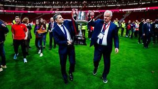 El actual entrenador barcelonista se une a Forns, Balmanya, Cruyff, Guardiola y Luis Enrique como azulgranas que han levantado la Copa como jugador y entrenador