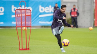 Leo Messi returns to training