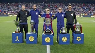 Reconocimiento a los cinco Campeones de Copa