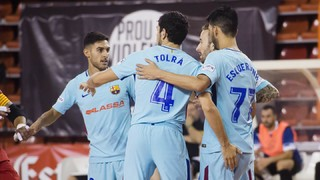 FC Barcelona Lassa - CFS La Unión Santa Coloma: Festival de gols per accedir a la final (12-2)
