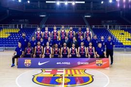 Així ha estat la fotografia oficial del Barça Lassa amb el president Bartomeu