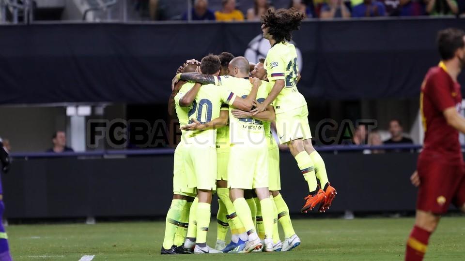 صور مباراة : برشلونة - روما 4-2 ( 01-08-2018 )  95179872