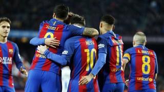 El conjunto azulgrana, con sus 7 goles ante Osasuna, suma 101 goles en la Liga y se convierte en el primer equipo en superar el centenar de goles en la competición doméstica este curso