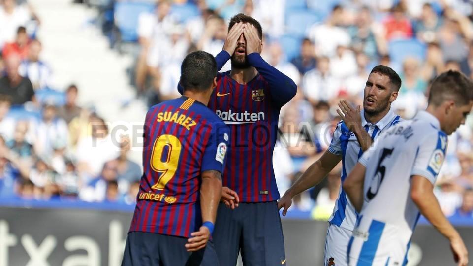 صور مباراة : ريال سوسيداد - برشلونة 1-2 ( 15-09-2018 ) 98507362