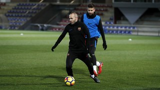 Last training session before Villarreal