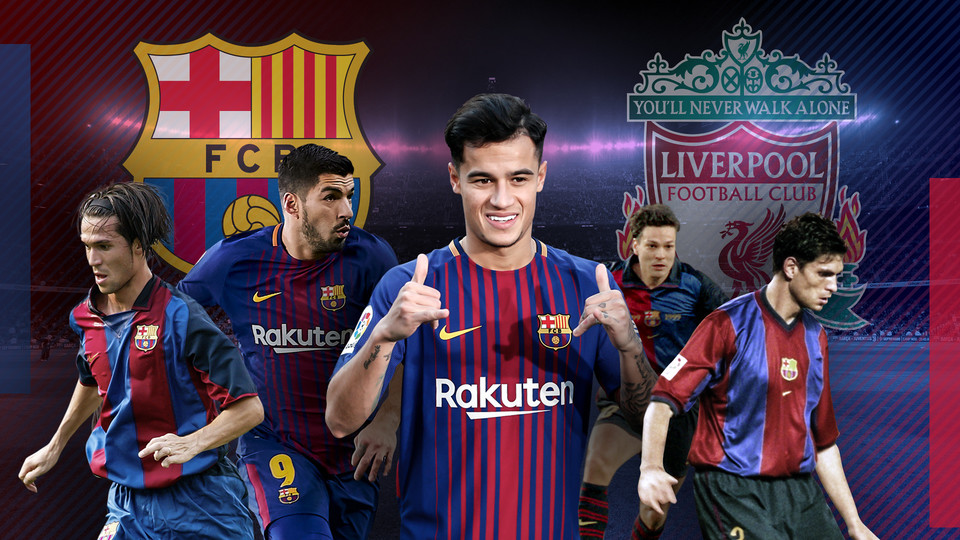 Coutinho Is The Latest Player To Make The Move From Liverpool To Barca Or Vice Versa Barca Graphic Design