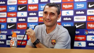 The blaugrana coach is happy with his squad and says his team will be out to win everything