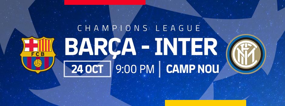 ENTRADAS OFICIALES FCB vs INTER DE MILAN 18/19
