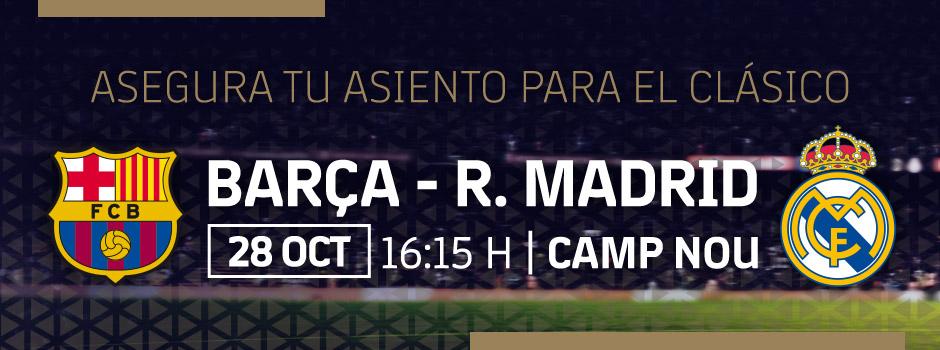 ENTRADAS OFICIALES FCB vs R. MADRID 18/19
