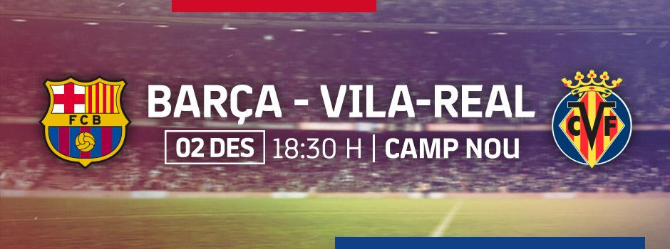 ENTRADES OFICIALS FCB vs VILLARREAL 18/19