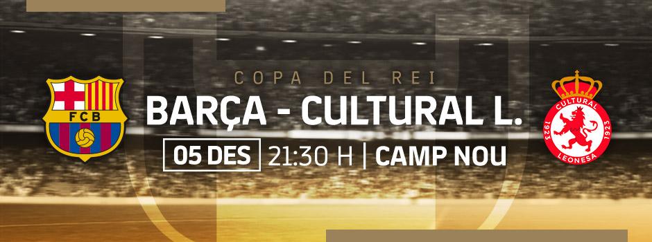 Compra entrades VIP FC BARCELONA VS CULTURAL LEONESA