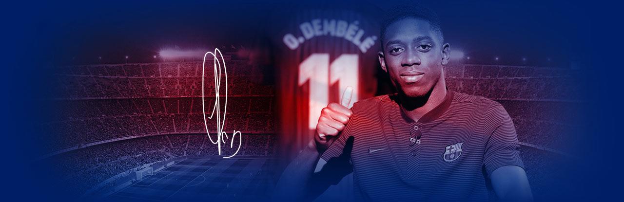 Guanya la nova samarreta signada Ousmane Dembélé