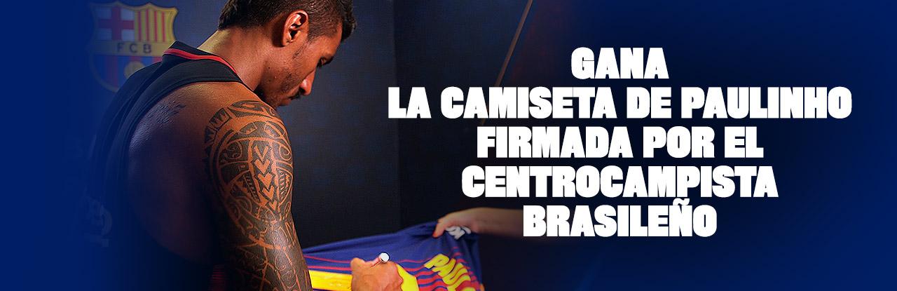 Gana la camiseta de Paulinho firmada