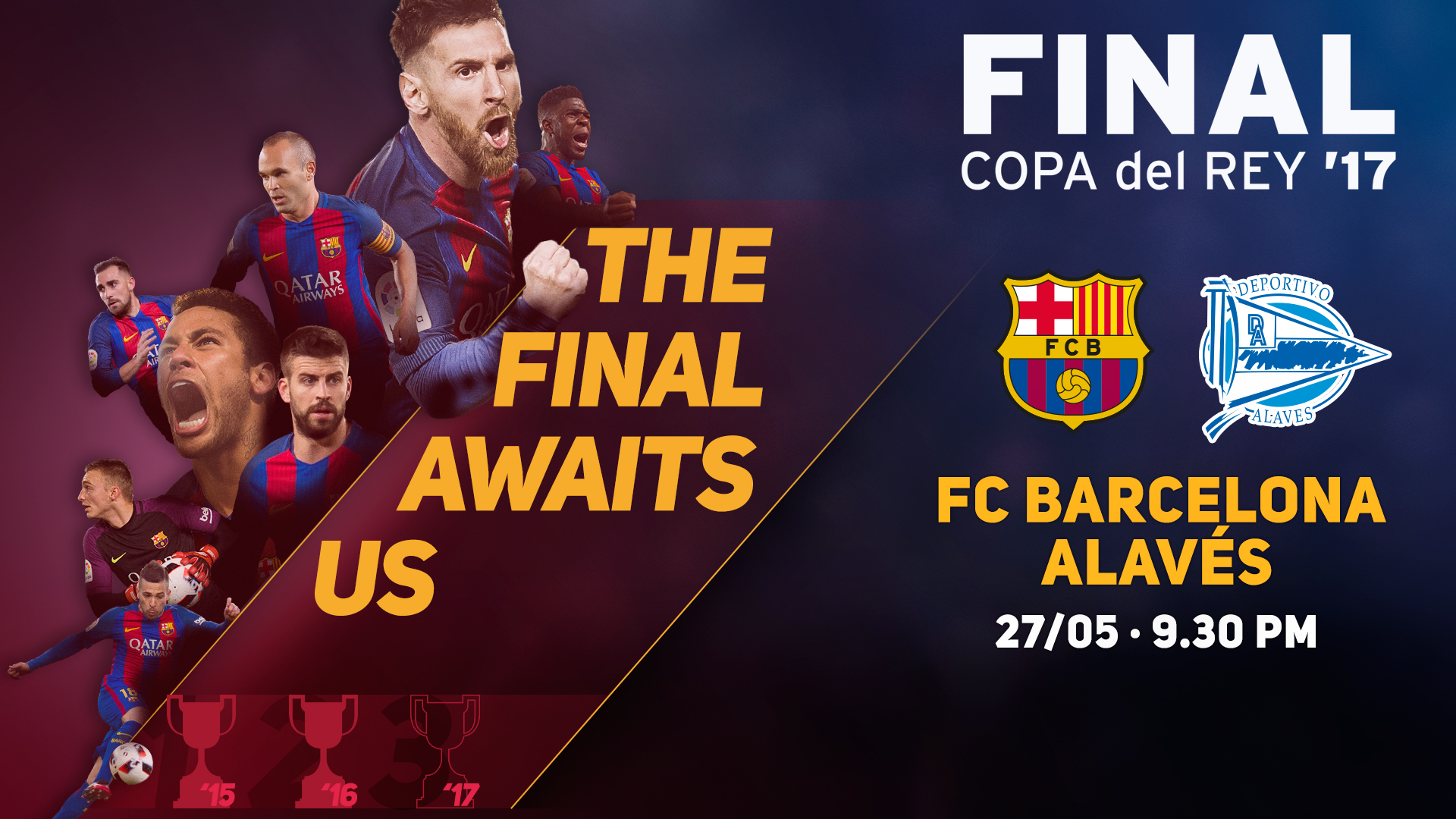 Thumbnail for Copa del Rey final countdown - as it happened