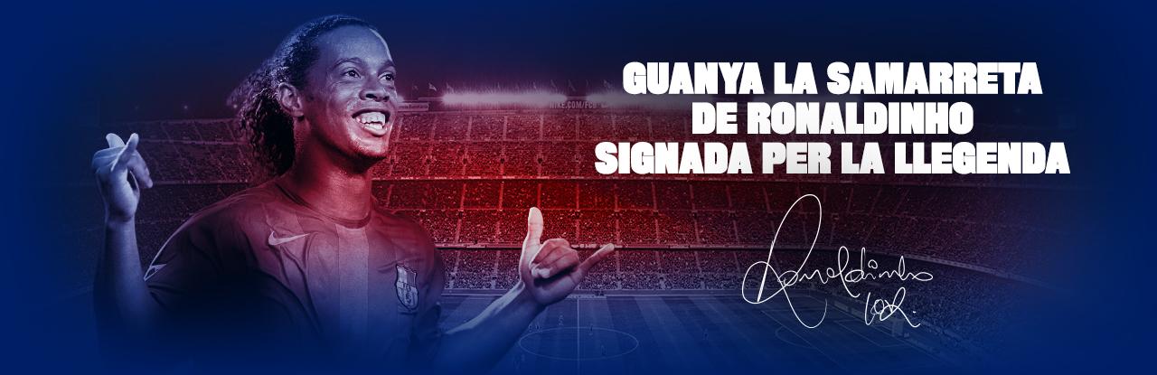 Guanya la samarreta de Ronaldinho signada per la llegenda