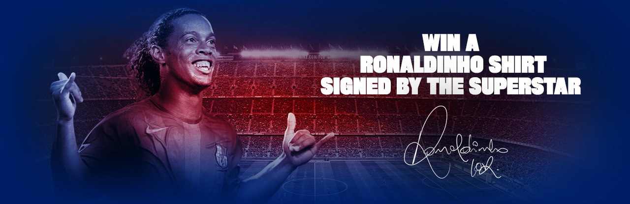 Win a Ronaldinho shirt signed by the superstar