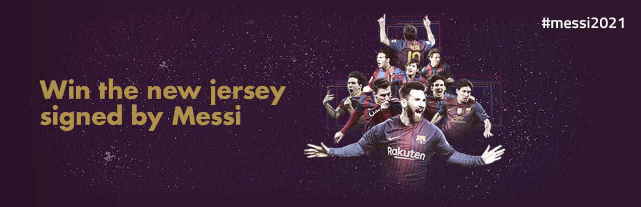 Win the new jersey signed by Messi