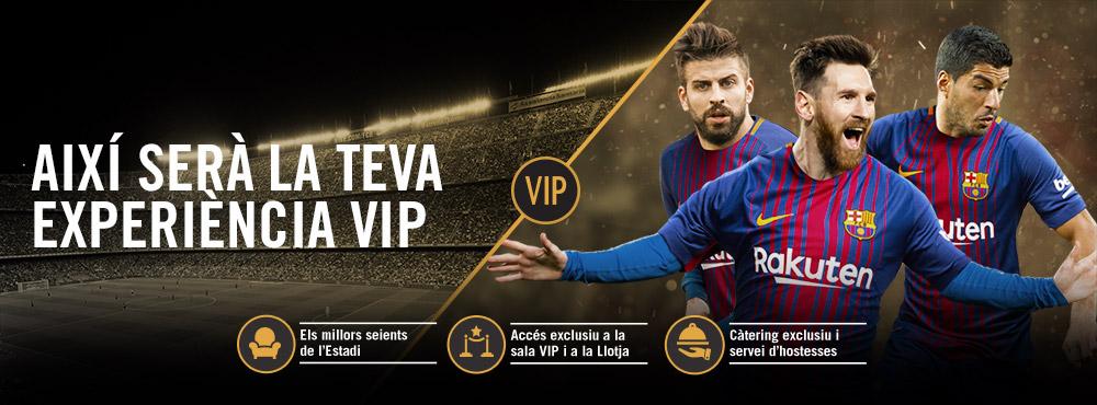Tot sobre VIP: Viu la teva experiència VIP al Camp Nou
