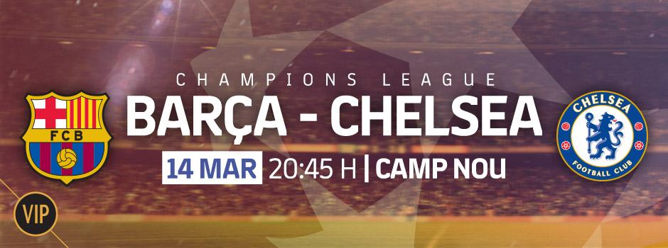 Compra entrades VIP Champions League FC Barcelona - Chelsea