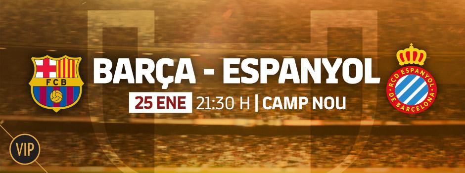 Entradas VIP FC Barcelona - Espanyol Copa del Rey