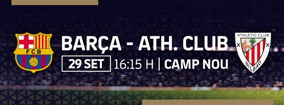 Compra entrades VIP FC BARCELONA VS ATHLETIC CLLUB BILBAO